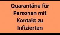 Quarantäne für Personen